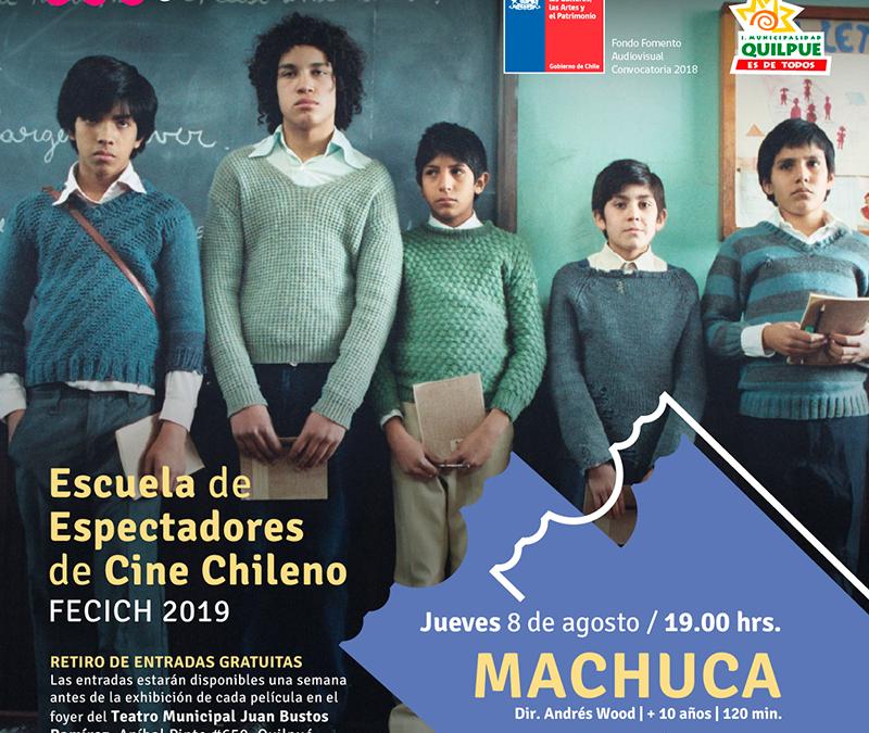"""Con la película """"Machuca"""" se inicia la 3a Escuela de Espectadores de Cine Chileno"""