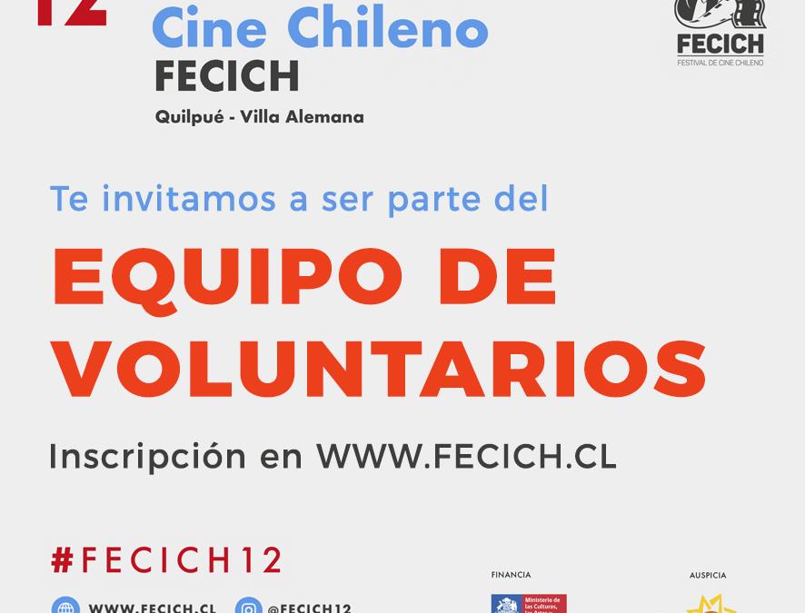 Inscripción Voluntarios FECICH 12